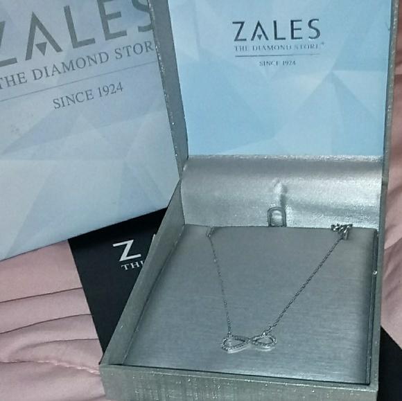 Zales Jewelry - Diamond infinity necklace